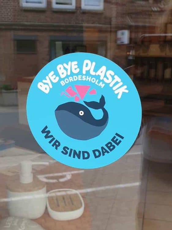 Foto Aufkleber Bye Bye Plastik